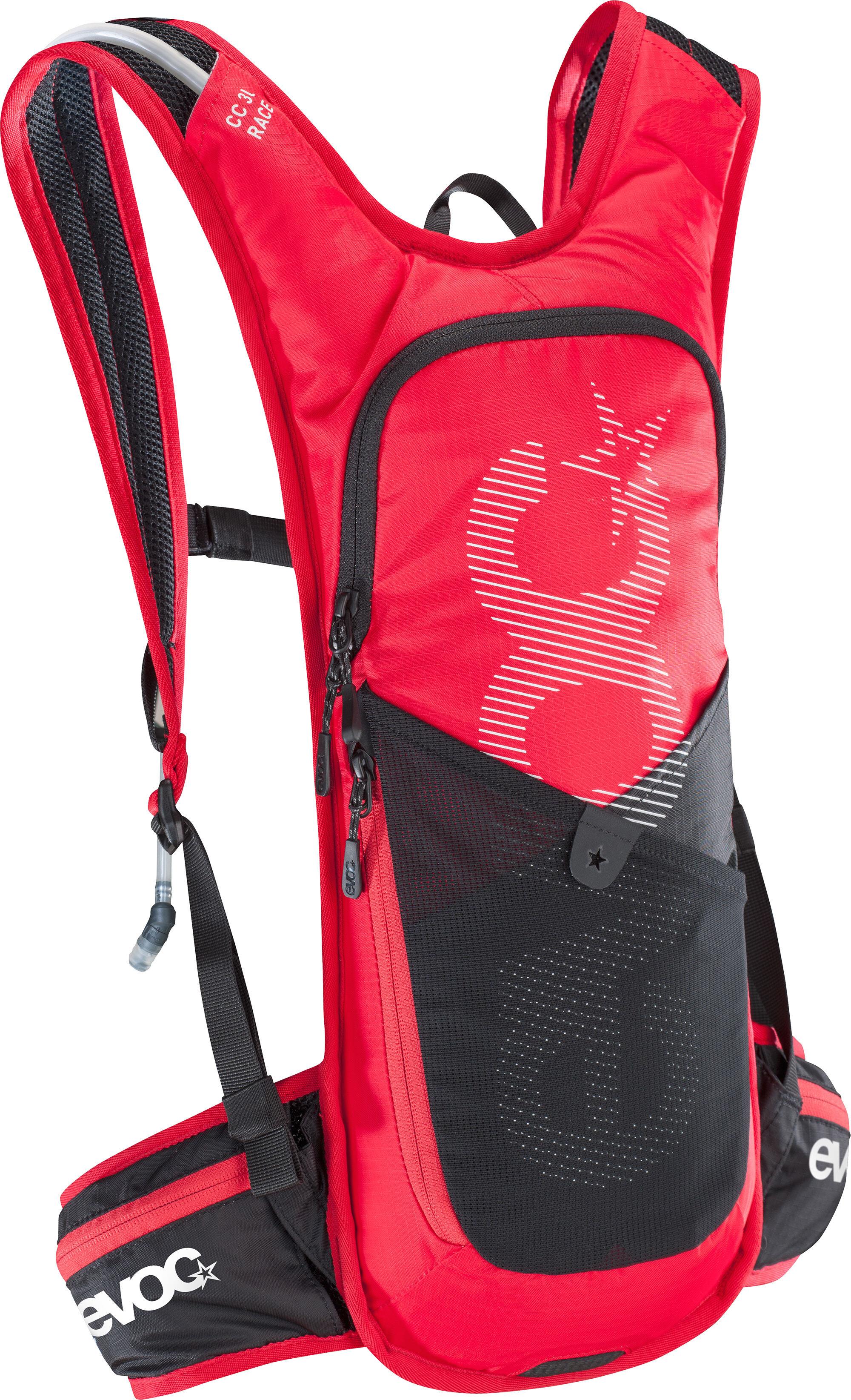 9dfbbe6cf6720 EVOC CC Race Backpack 3l + 2l Bladder red at Bikester.co.uk